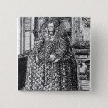 Portrait of Queen Elizabeth I 15 Cm Square Badge
