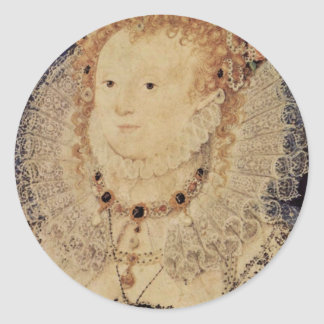 Portrait Of Queen Elizabeth I Of England Oval Classic Round Sticker