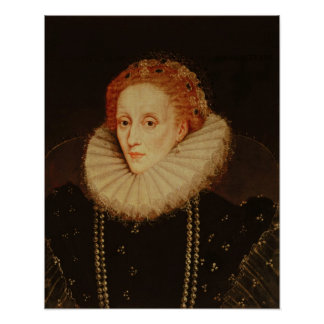 Portrait of Queen Elizabeth I Poster