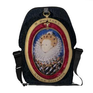 Portrait of Queen Elizabeth I w c on vellum Courier Bags