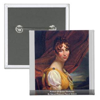 Portrait Of Queen Hortense 15 Cm Square Badge