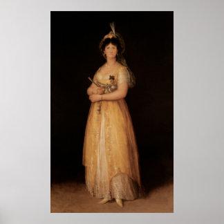 Portrait of Queen Maria Luisa  wife of King Poster