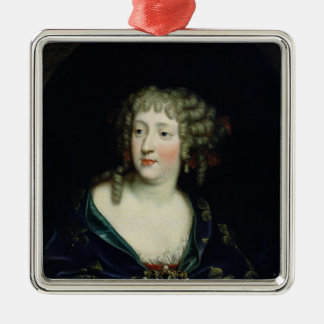 Portrait of Queen Marie-Therese of France Silver-Colored Square Decoration