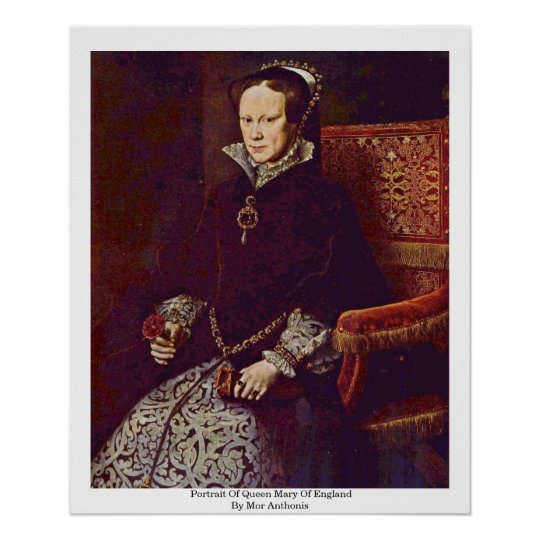 Portrait Of Queen Mary Of England By Mor