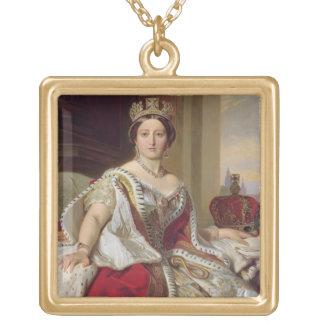 Portrait of Queen Victoria (1819-1901) 1859 (oil o Jewelry