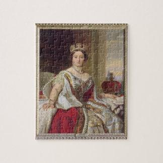Portrait of Queen Victoria (1819-1901) 1859 (oil o Puzzle