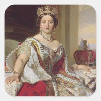 Portrait of Queen Victoria (1819-1901) 1859 (oil o Square Sticker