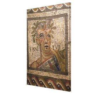 Portrait of Quintus Ennius Gallery Wrap Canvas