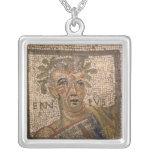 Portrait of Quintus Ennius Square Pendant Necklace