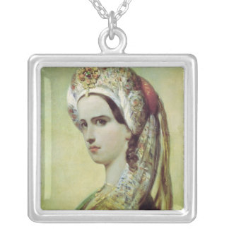 Portrait of Rachel Silver Plated Necklace