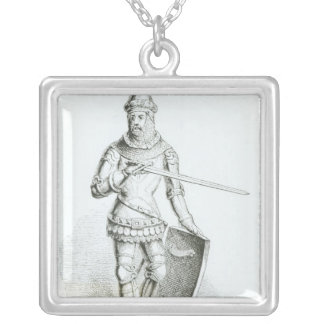 Portrait of Ralph Neville Silver Plated Necklace