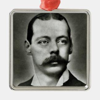 Portrait of Randolph Churchill Silver-Colored Square Decoration