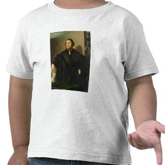 Portrait of Raphaele Grassi oil on canvas T-shirt