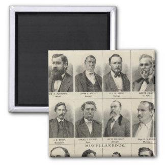 Portrait of Real Estate Dealers, Minnesota Square Magnet
