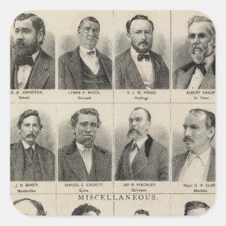 Portrait of Real Estate Dealers, Minnesota Square Sticker