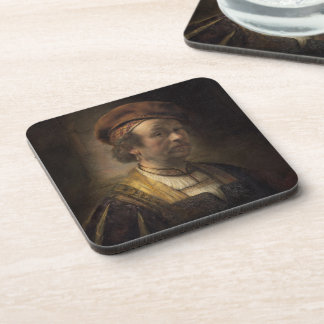 Portrait of Rembrandt, 1650 (oil on canvas) Drink Coasters