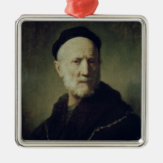 Portrait of Rembrandt's Father Christmas Ornament