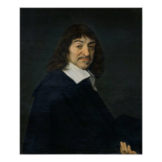 Portrait of Rene Descartes  c.1649 Poster