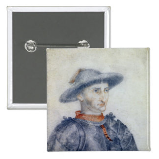Portrait of Rene I  Duke of Anjou 15 Cm Square Badge