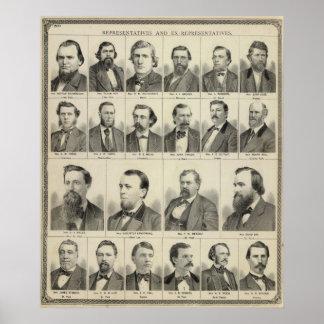 Portrait of Representatives, Minnesota Poster