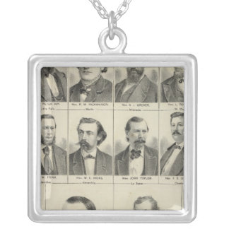 Portrait of Representatives, Minnesota Silver Plated Necklace