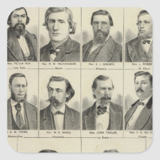 Portrait of Representatives, Minnesota Square Sticker