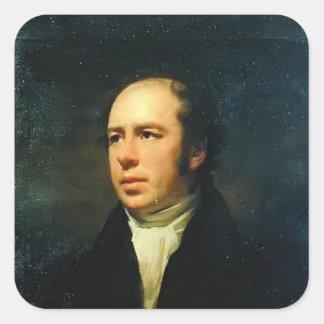 Portrait of Reverend John Thomson by Henry Raeburn Square Stickers