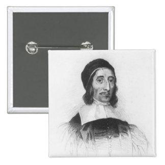 Portrait of Richard Baxter 15 Cm Square Badge