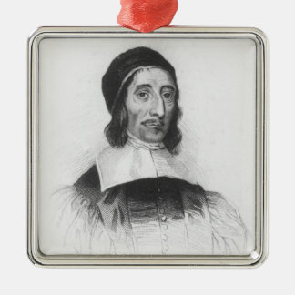 Portrait of Richard Baxter Silver-Colored Square Decoration