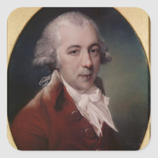 Portrait of Richard Brinsley Sheridan  1788 Square Sticker