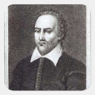 Portrait of Richard Burbadge Square Sticker