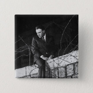 Portrait of Richard Burton 15 Cm Square Badge