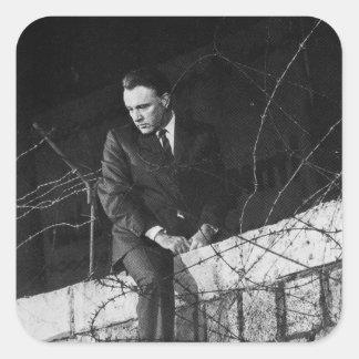 Portrait of Richard Burton Square Sticker