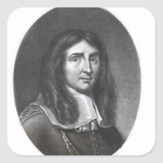 Portrait of Richard Cromwell Square Sticker