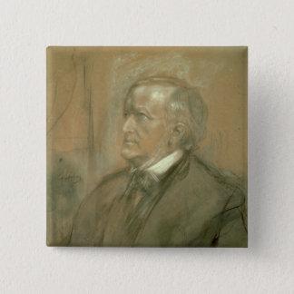 Portrait of Richard Wagner  1868 15 Cm Square Badge