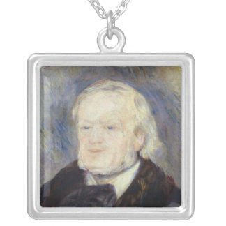 Portrait of Richard Wagner  1882 Silver Plated Necklace