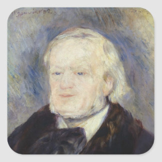 Portrait of Richard Wagner  1882 Square Sticker