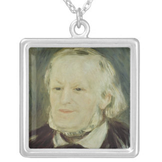 Portrait of Richard Wagner , 1893 Silver Plated Necklace
