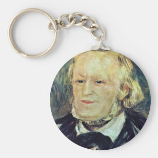 Portrait Of Richard Wagner By Pierre-Auguste Basic Round Button Key Ring