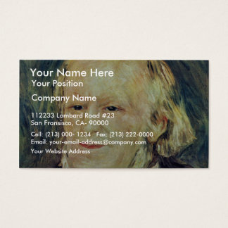 Portrait Of Richard Wagner By Pierre-Auguste Business Card