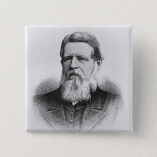Portrait of Right Hon Lord Iddesleigh 15 Cm Square Badge