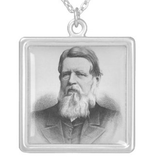 Portrait of Right Hon Lord Iddesleigh Silver Plated Necklace