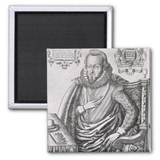 Portrait of Robert Cecil (1563-1612) 1st Earl of S Square Magnet