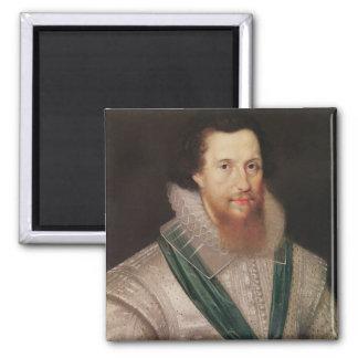 Portrait of Robert Devereux  c.1596 Square Magnet