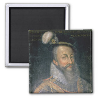 Portrait of Robert Dudley (1532-88) Earl of Leices Square Magnet