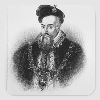 Portrait of Robert Dudley  1st Earl of Square Sticker