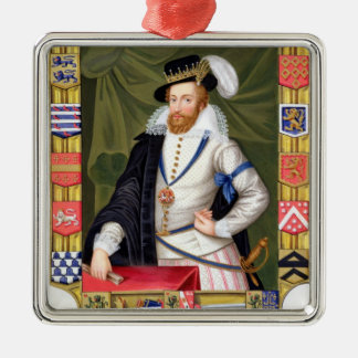 Portrait of Robert Dudley (c.1532-88) Earl of Leic Christmas Ornament