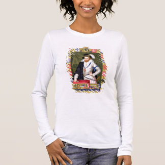 Portrait of Robert Dudley (c.1532-88) Earl of Leic Long Sleeve T-Shirt