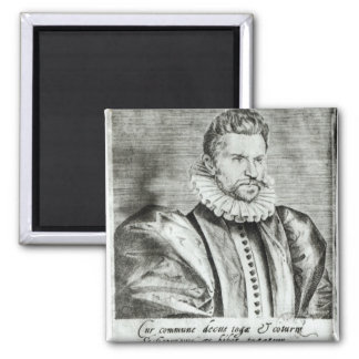 Portrait of Robert Garnier Square Magnet