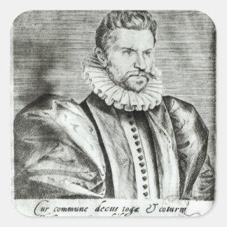 Portrait of Robert Garnier Square Sticker